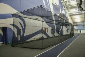 CEILING SUSPENDED BATTING/GOLF CAGE (14'H x 14'W x 70'L)