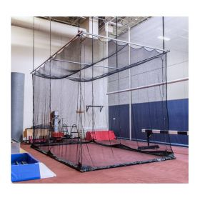 CEILING SUSPENDED BOTTOM LIFT BATTING/GOLF CAGE (13'H x 12'W x 70'L)