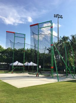 742130C1503 Shown. Maximus Hammer Cage; Single Ring; Dark Green Paint; Red Pads