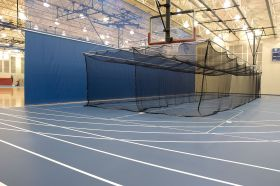 CEILING SUSPENDED DOUBLE-WIDE BATTING/GOLF CAGE