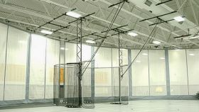 CEILING SUSPENDED THROWING CAGE