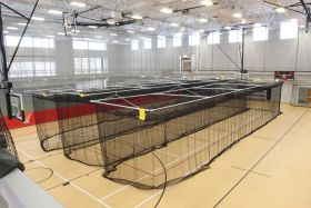 CEILING SUSPENDED BATTING/GOLF CAGE (12'H x 12'W x 70'L)